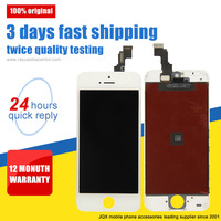 [JQX] wholesale mobile phone part original lcd display screen for iphone 5