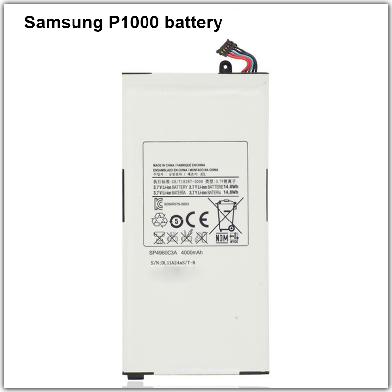 Best Quality Phone 4000mah Li-ion samsung battery For Samsung galaxy tab <strong>p1000</strong> with Replacement phone battery