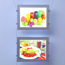 LED Double Sided Ceiling Advertising Window Display Light Box Poster Frame