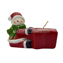 custom christmas snowman tealight holder, ceramic tealight candle holder
