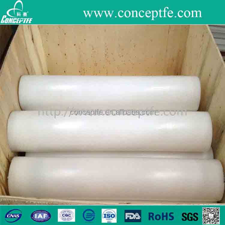 buy virgin pure nontoxic Grade A white ptfe molded rod round bar