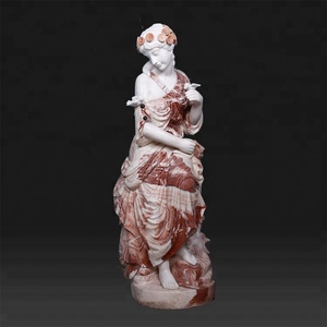 Custom mixed color outdoor garden life size marble stone statues for sale