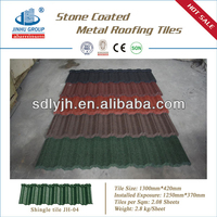 big sale natural slate colorful stone coated roof tile/metal roof tile