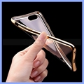 Electroplating Slim Protective Transparent TPU Case Cover for iPhone 6 6S Plus 5S