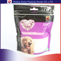 Plastic Stand Up Resealable Zipper Bag Food Grade Pet Food Bag