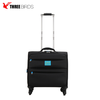Three Birds Brand Cheap Wholesale Normal Code Lock Fabric Luggage sets