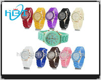 hot sale wholesale geneva silicone rubber band jelly watch china