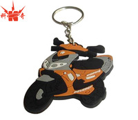 Hot sale fashion motorcycle soft pvc keyring for souvenir