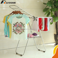AY-Z21 hanging clothes drying rack,China factory of foldable cloth rack,multifunctional bedroom clothes rack