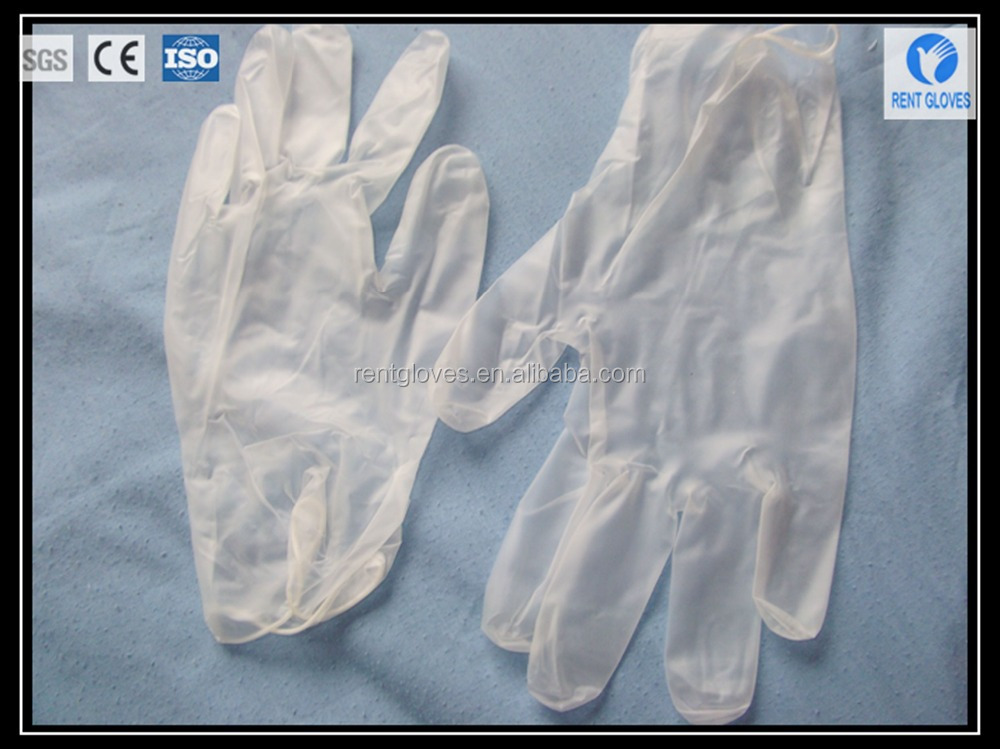 Wholesale Medical Supplies Disposable Powder Free Vinyl PVC Gloves