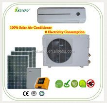 Solar split air conditioner 100% solar powered window air conditioner sunny air conditioner
