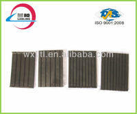 Grooved insulation rubber plate under railway concrect sleeper