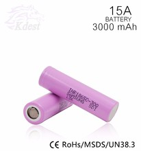 INR Samsung SDI 30Q 18650 li-ion battery INR18650-30Q 18650 3000mAh high power cell samsung 30Q 15A Current For E-cigarette