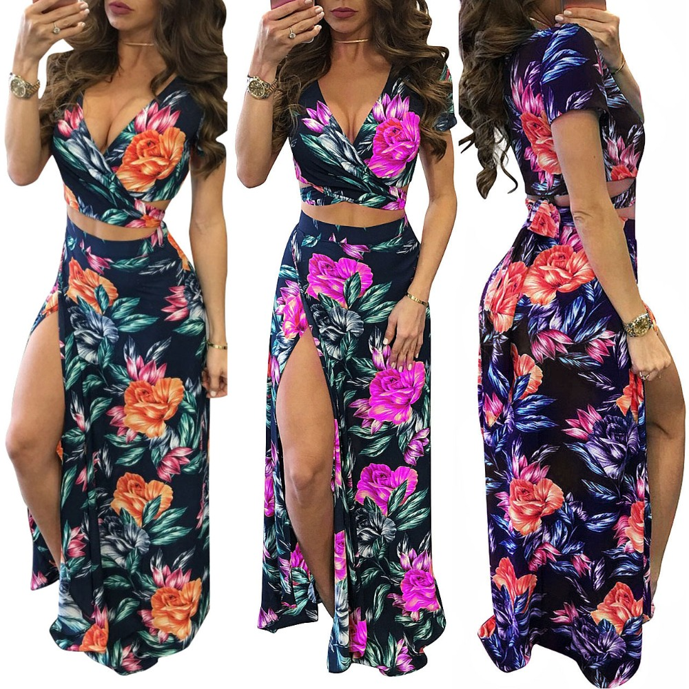 B32571A African style dress clothes floral print women fashion long bandage dress