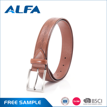 Alfa 2016 New Products Custom Design Latest Casual Mens Genuine Spanish Leather Belt