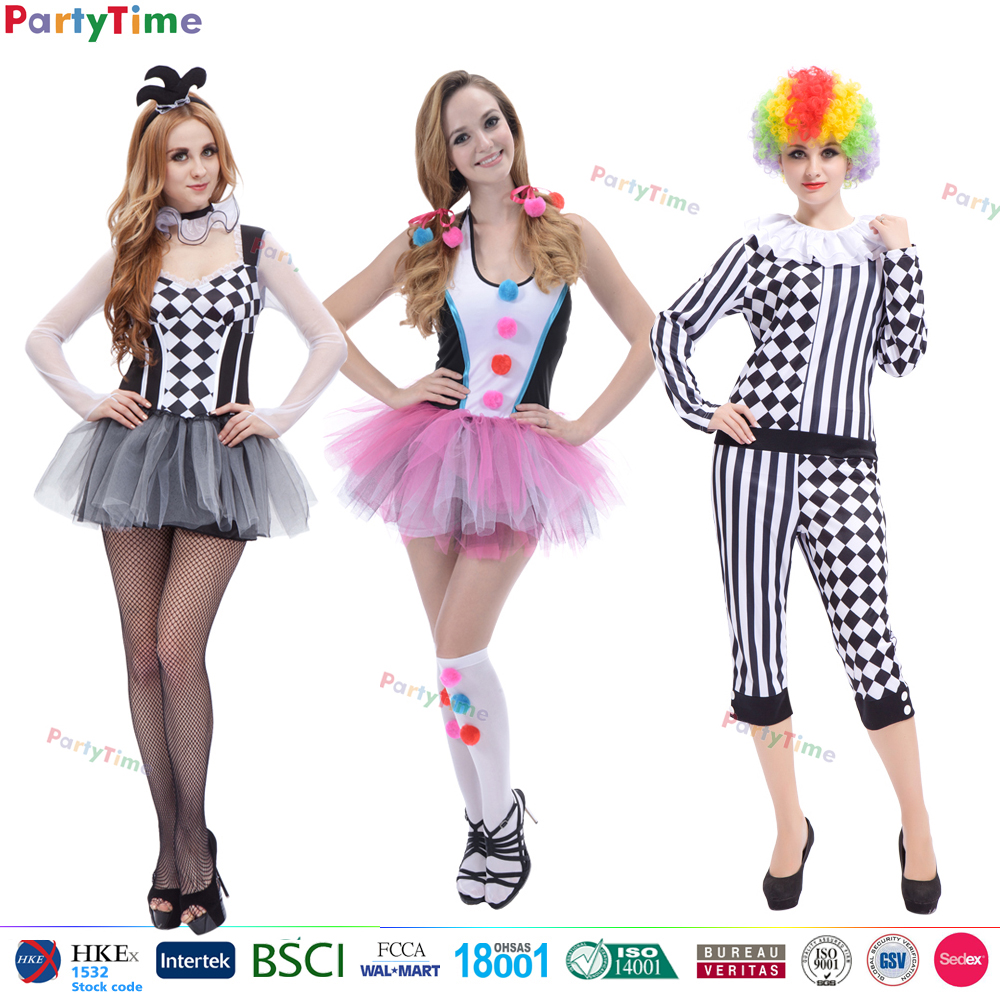wholesale halloween anime cosplay costume sexy adult woman clown costume