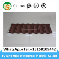 Cheap roofing tile /stone coated aluminum zinc steel roof sheet