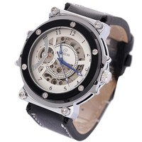 SK001 High quality special round antique skeleton watch