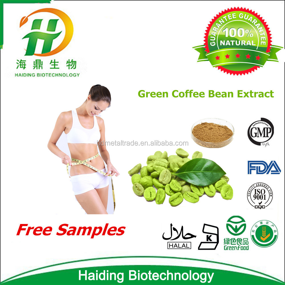 100% Manufacturer for Natural Chlorogenic acid 50% Halal Green Coffee bean extract