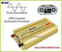 Meind Auto Switch Pure sine wave Power inverter 1000W peak 2000W DC 12V AC 220V + UPS function