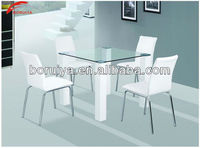 Small Simple Gorgeous Functional Comfortable Delicate Modeling Design Cheap Rectangle glass home dining table