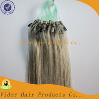 Fast Delivery Top Quality Double Loop Remy Hair Gray Human Hair