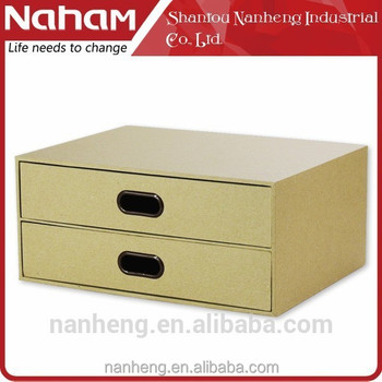 NAHAM desktop small wooden desk storage drawer boxes