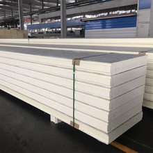 new construction materials pu polyurethane exterior concrete wall cold room sandwich panels