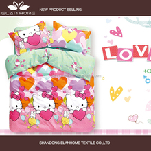 100% cotton 128*68 pigment printed hello kitty baby bedding sets/bed sheet