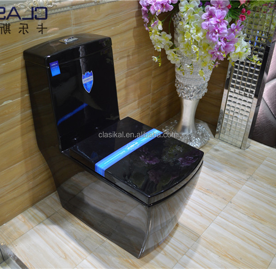China sanitary ware prices wholesale black color ceramic toilet bowl