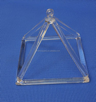 Sound Healing Quartz Clear Crystal Pyramid