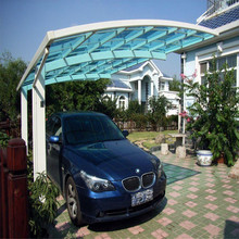 Outdoor/Garden Aluminum Double dome carport with pc sheet