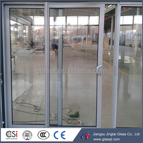 Frameless sliding glass doors with 10mm 12mm thick clear tempered laminated glass