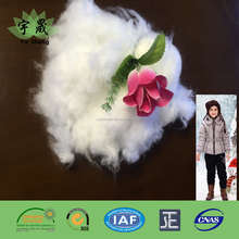 Soft Super fine fiber down polyester wadding for clothing