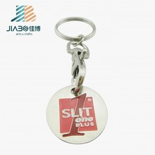 2016 years Euro size metal custom Trolley token coin Keyring keychain