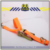 "2"" orange cargo lashing belt/ratchet tie down with plastic handle"