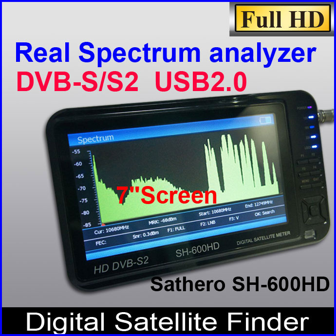DVB-S/S2 HD professional Digital Satellite Finder meter,Sathero SH-600HD satfinder