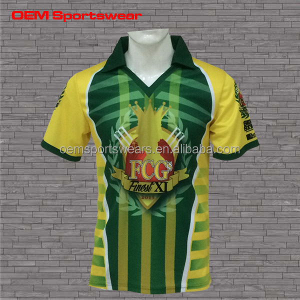 New design sublimation cricket team jerseys
