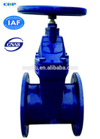 high quality casting parts double flange rising stem water gate valve