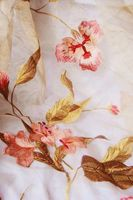 100%polyester red flower organza embroidery curtain fabric