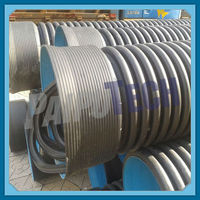 Plastic HDPE Double Wall Perforated Drainage Pipe Blue Inside