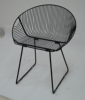 Metal Wire Round Shell Mesh Side Chair In Gold or Black