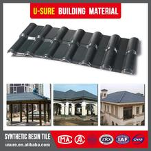 Sun sheds 3 layer synthetic resin roofing tiles/teja upvc/asa covered pvc roofing sheet