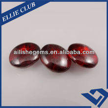 chinese red round siver backing sew on glass crystal gems
