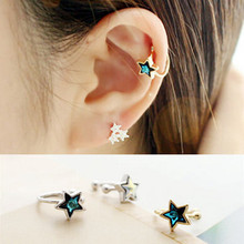 1pcs Blue Star Ear Cuff Earrings No Piercing Earring Girl Jewelry