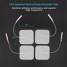 "TENS Unit Electrodes Replacement Pads 2"" Square Shape Massage Electrode Pads with 2.0mm Plug for TENS"