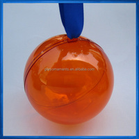 2-part bauble,transparent plastic ball