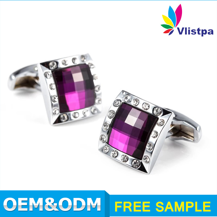 2016 men cufflinks set hot sell custom made crystal metal suit shirt replica cufflinks