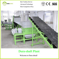 Dura-shred 2015 new generation regroovable used tire shredding machine