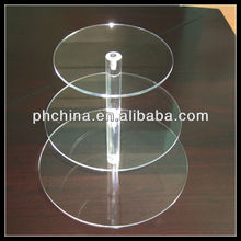 3-tire round 4 mm thickness 312 mm in height acrylic cupcake display case